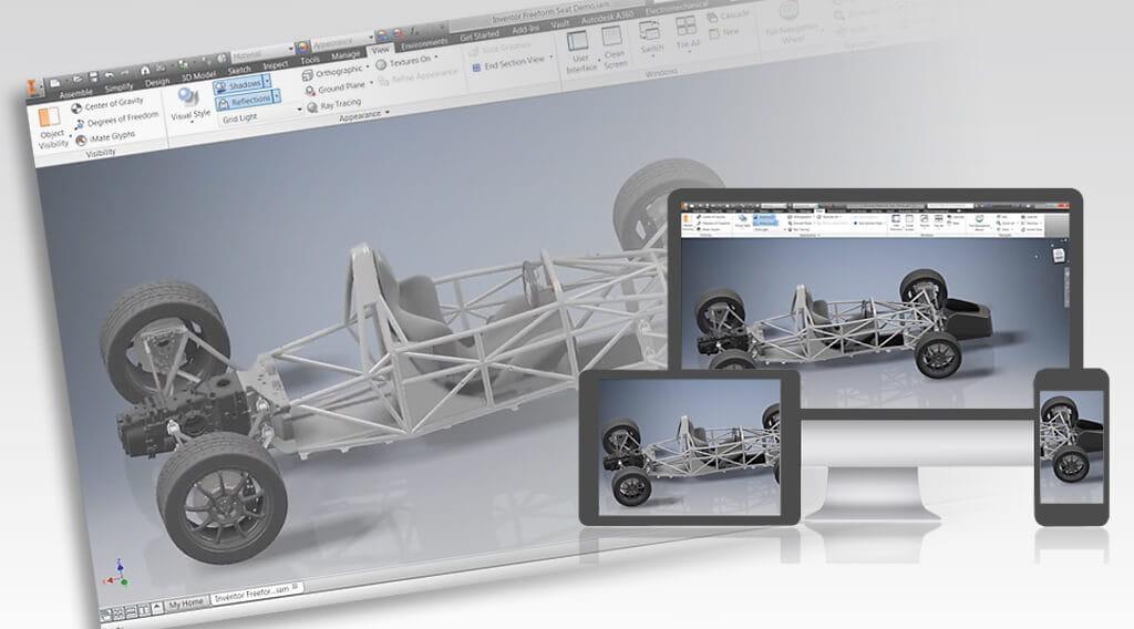Autodesk Inventor – 3D-CAD-System in unterschiedlichen Ausbaustufen